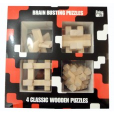 Lesene sestavljanke 4 classic Wood Set